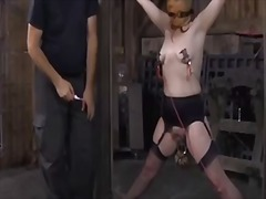 Rod torture for beautys cunt