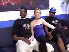 Blonde teen fucks black guy in front of cuckold