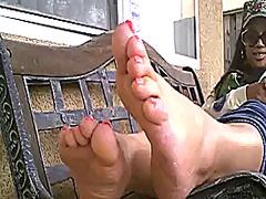 כוסיות שחורות כושיות פטיש פטיש כפות רגליים