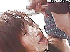 Aasia Bukkake Näkku Purskamine Gangbang Jaapani