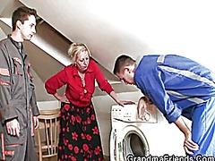 שלישיה סבתות קבוצתי מבוגרות מציאותי