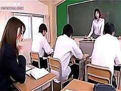 אסיאתיות זוג יפניות חדירה בית ספר