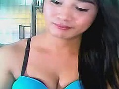 Horny shemale self sucks her big cock