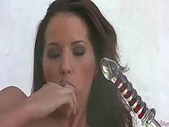 Angel dark cant live a day without playing with herself