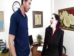 Καυλωμένη Ερωτική Μητέρα Γραφείο Σκουλαρίκια