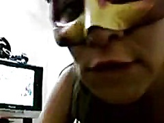 Masked latin chick sextape oral-job titjob fuck homemade